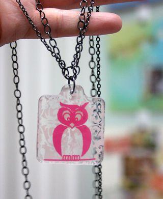 Pink Hootie Necklace 1