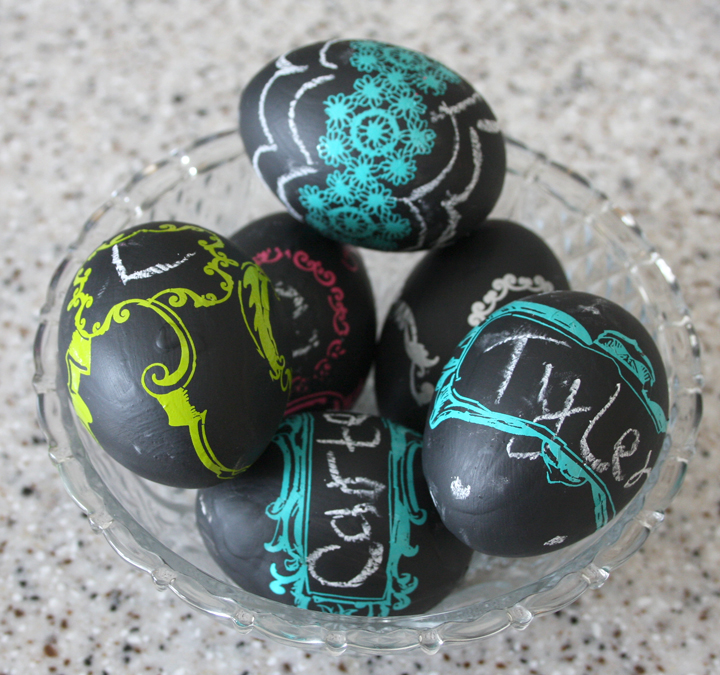 Chalkboard Paint Eggs | Fun Easter Crafts For Kids To Do On The Homestead