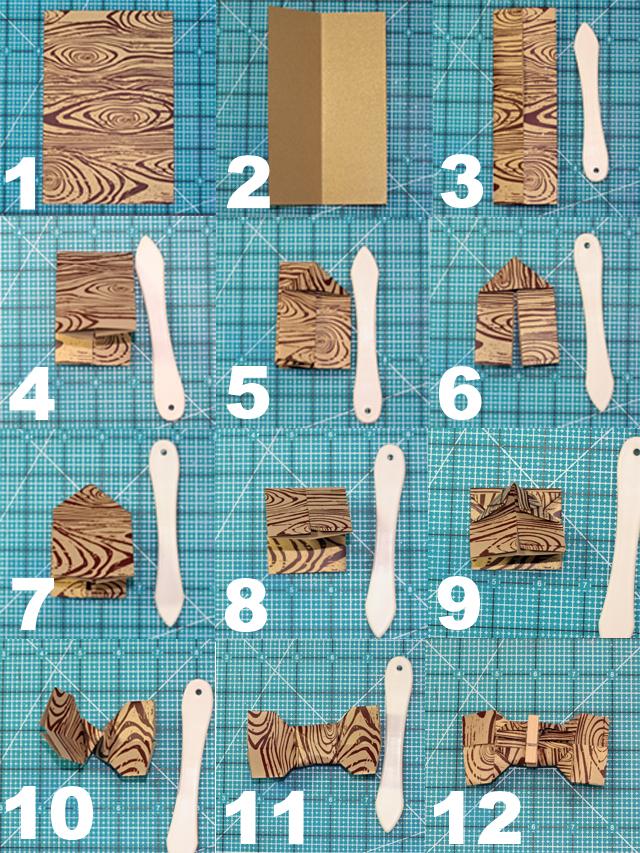 faire un noeud papillon en origami scrappez avec mamy anick. Black Bedroom Furniture Sets. Home Design Ideas