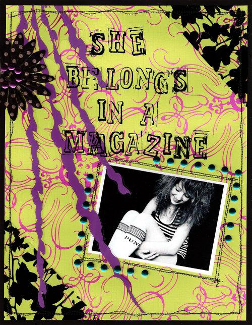 she belongs in a magazine
